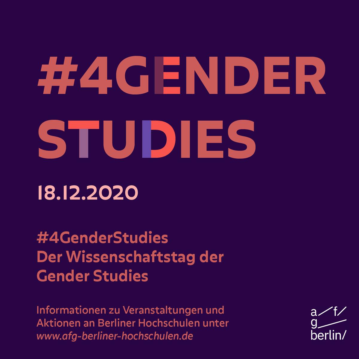 #4GenderStudies 2020